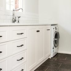bench and dishwasher laundry renovations melbourne