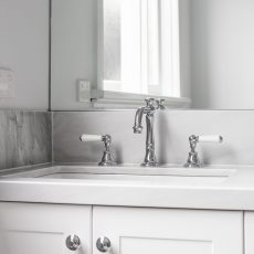 Traditional bathroom vanity and tap ware in Ascot Vale Bathroom
