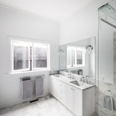 Bathroom in Ascot Vale, Melbourne by MJ Harris Group