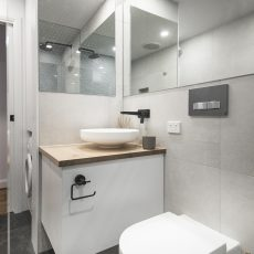Bathroom renovation in Cremorne showing sink and toilet