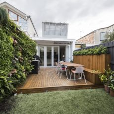One of the courtyard landscaping completed in Cremorne