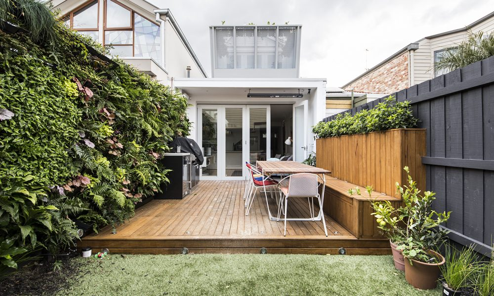 Outdoor living courtyard renovation completed in Cremorne by M.J.Harris Group