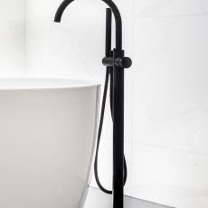 melbourne bathroom renovation featuring free standing spout and tub