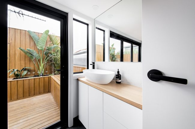 bathroom renovations melbourne, completed by MJ harris group