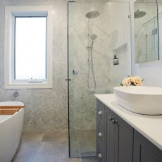 bathroom renovations melbourne completed by mj harris group