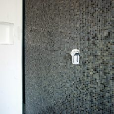 Melbourne bathroom renovation featuring mosaic tiles
