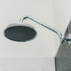 Melbourne bathroom renovation featuring rain shower head, MJ Harris Group