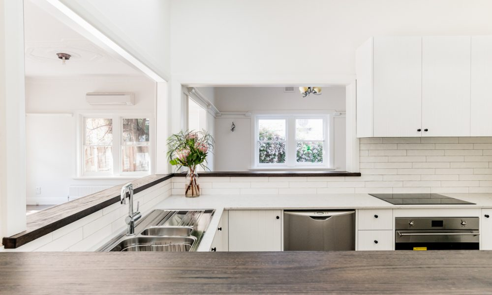 Image of a kitchen design in Alphington Completed by M.J. Harris Group