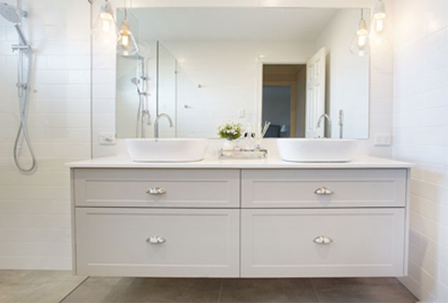 Image of a bathroom with a custom built joinery