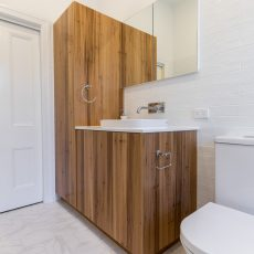 Custom timber vanity in Ivanhoe bathroom renovation