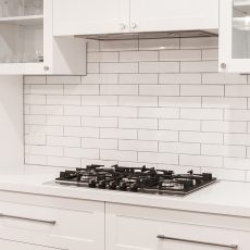 Subway tile splash back in Melbourne kitchen renovation