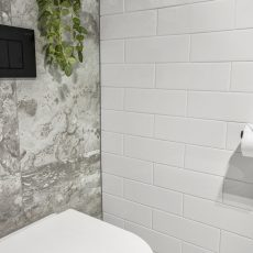 Grey Tile Feature Wall MJ Harris