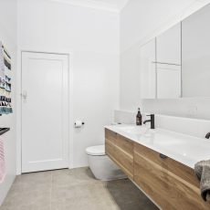 Modern bathroom in Melbourne by the MJ Harris Group