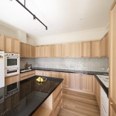 Image of a custom timber kitchen by MJ Harris Group