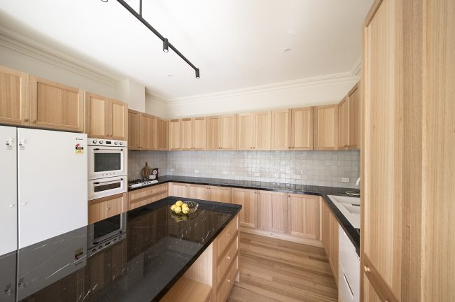 Custom timber kitchen by MJ Harris Group
