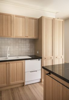Image of a timber kitchen by MJ Harris Group