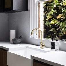 Kitchen tap ware and framers house sink