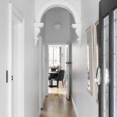 White Hallway with Archway