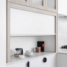 Appliance cabinet in kitchen