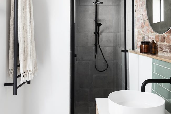 Bathroom design in Brunswick, Melbourne.