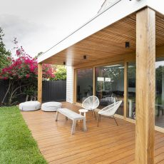 Outdoor living area design in Melbourne