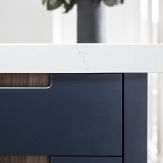 Navy kitchen cabinetry