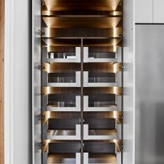 Drawers in kitchen pantry by M.J. Harris Group