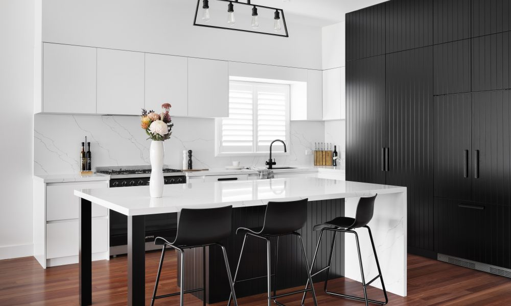 Image of a Monochrome kitchen by Mj Harris Group in Melbourne